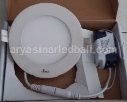 LED - Panel Downlight Bulat - 6 Watt